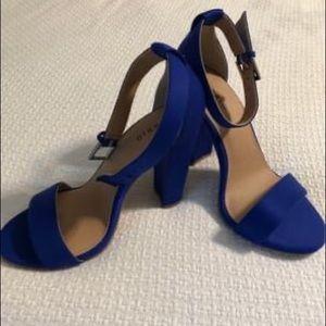 Torrid Open Toe Heels Blue